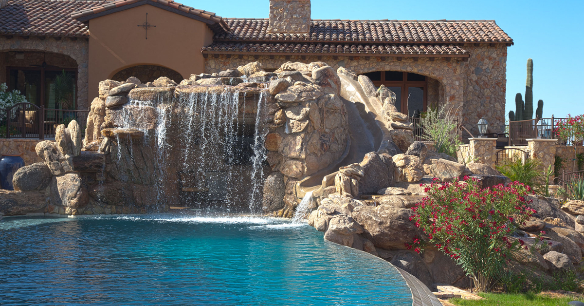Swimming Pool Waterfalls Construction | Phoenix AZ area | No ...
